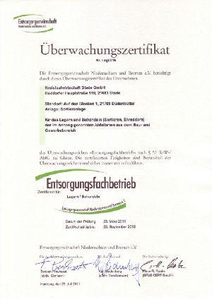 Certificat de surveillance